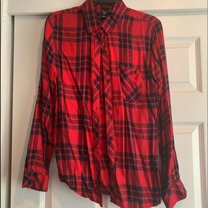 Never been worn red and blue flannel